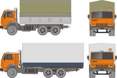 Vector heavy truck Royalty Free Stock Photos
