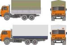 Vector heavy truck. Vector illustration KAMAZ truck modifications. Include EPS-8 Royalty Free Stock Photos
