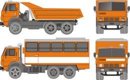 Vector heavy truck. Vector illustration KAMAZ truck modifications. Include EPS-8 Stock Photos