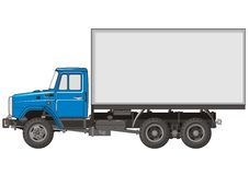 Vector Heavy Truck. Vector illustration ZIL truck isolated on white background. Include EPS v.8 format Stock Photography