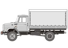 Vector Heavy Truck stock illustration