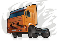 Vector heavy truck. Vector illustration of heavy truck KAMAZ-5460. JPEG include clipping path on truck. Also avalable EPS-8 format Stock Images