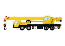 Vector Heavy Truck Crane.  on white background. Stock Images