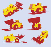 Vector heavy utility trucks Royalty Free Stock Image