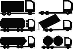 Vector, Heavy Vehicles Royalty Free Stock Photography