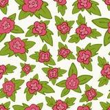 Vector helder bloemen naadloos patroon - bloem met bladeren royalty-vrije illustratie