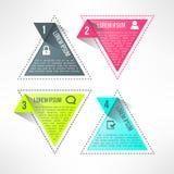 Vector helder infographic malplaatje in moderne vlakte Stock Afbeeldingen
