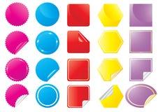 Vector-helder-stickers Stock Afbeeldingen