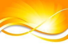 Vector heldere achtergrond in geel Royalty-vrije Stock Afbeelding