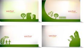 Vector - heldere bedrijfs groene kaart Stock Foto