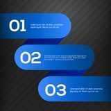 Vector heldere 3D blauwe geplaatste banners Stock Fotografie