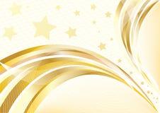 Vector heldere gouden achtergrond Royalty-vrije Stock Fotografie