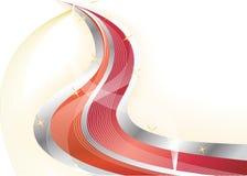 Vector heldere rode achtergrond Stock Afbeelding