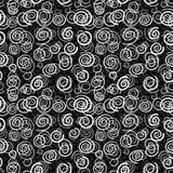 Vector spiralen op zwarte achtergrond - naadloze patt stock illustratie
