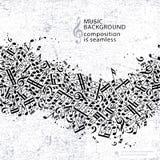 Vector hellen punktierten nahtlosen Musikhintergrund, Segeltuchbeschaffenheit wi Lizenzfreies Stockfoto