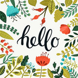 Vector Hello card Royalty Free Stock Photography