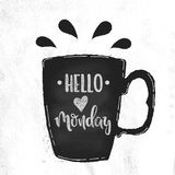 Vector hello maandag Stock Afbeelding