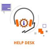 Vector - help desk Stock Photo