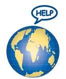 Vector Help Earth Stock Photos