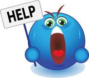 Vector help symbol. Stock Image - a cry for help Stock Photos