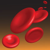 Vector hemoglobinestroom Stock Foto