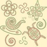 Vector henna animals Stock Images