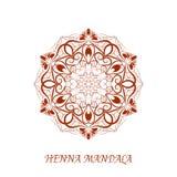 Vector Henna Color Mandala over white Stock Photography