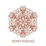 Vector Henna Color Mandala over white Stock Photos