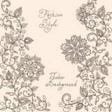 Vector Henna mehndi floral pattern Royalty Free Stock Images