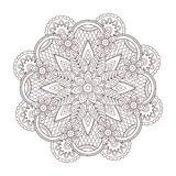 Vector henna paisley tatoo mandala. Mehndi style. Stock Photo