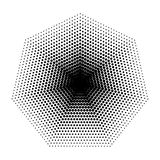 Vector Heptagon halftone geometric shapes, seven angles, Dot abstract background. Vector Heptagon halftone geometric shapes, Dot design abstract background. The vector illustration
