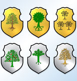 Vector Heraldic elements set Royalty Free Stock Photos