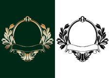Vector heraldic empty frame in antique baroque style Royalty Free Stock Photography
