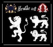 Vector Heraldic Lions Royalty Free Stock Photography