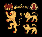 Vector Heraldic Lions Royalty Free Stock Photography