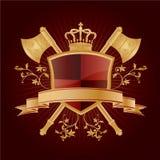 Vector heraldic pattern. On dark red background Stock Photography