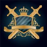 Vector heraldic pattern. On dark blue background Royalty Free Stock Image