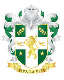 Vector heraldic royal crests coat of arms. Stock Image