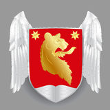 Vector heraldic royal crests coat of arms. Royalty Free Stock Photos