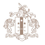 Vector heraldic royal crests coat of arms. Royalty Free Stock Image
