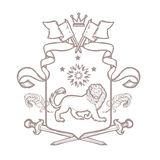Vector heraldic royal crests coat of arms. Stock Images