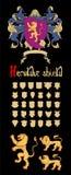 Vector Heraldic Set Royalty Free Stock Image