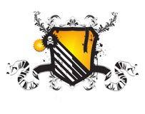 Vector heraldic shield. Abstract banner Stock Photos