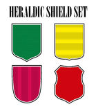 Vector heraldic shield set on white background. Stock Images
