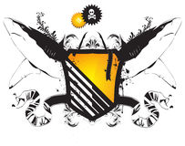 Free Vector Heraldic Shield With The Sharks Royalty Free Stock Photography - 10404427