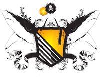 Vector heraldisch schild met de haaien stock illustratie