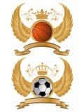 Vector heraldisch sportpatroon Stock Foto's