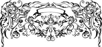 Vector heraldisch teken Royalty-vrije Stock Afbeeldingen