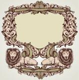Vector heraldische illustratie in uitstekende stijl voor kaart Royalty-vrije Stock Foto