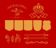 Vector heraldry elements  on white background. Royalty Free Stock Image